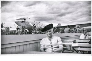 Grandtante og fly