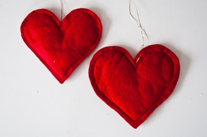 Hjerter av filt