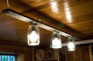 En lampe av drivved