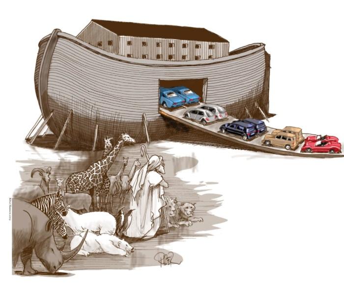 Riber Hansson, Noa og arken.
